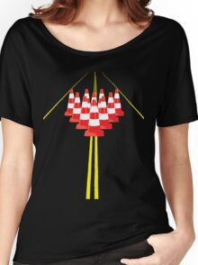 Witches hats as bowling pins Women's Relaxed Fit T-Shirt