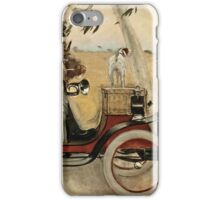 Ramon Casas - Ramon Casas and Pere Romeu in an Automobile (1901)  iPhone Case/Skin