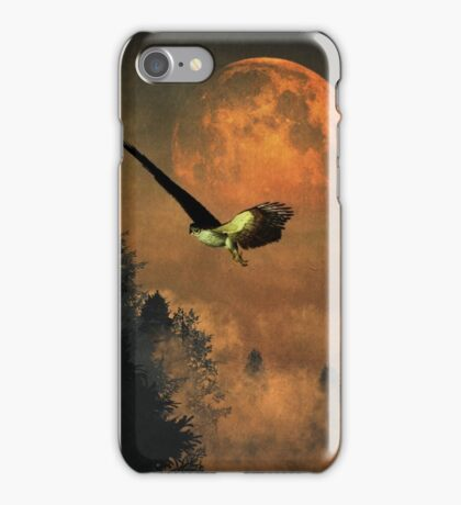 Falcons hunting in the evening iPhone Case/Skin