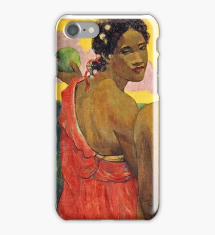 Paul Gauguin - Three Tahitians (1899)  iPhone Case/Skin