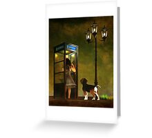 Phoning home Greeting Card