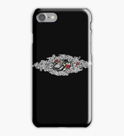 Roses, Bible, Biblical, Book, Religion, Belief, Goth, Gothic, Vampire, Tattoo iPhone Case/Skin