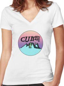 culte mountain shirt Women's Fitted V-Neck T-Shirt