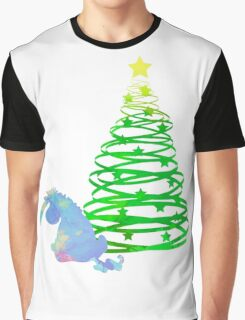 Christmas Donkey Inspired Silhouette Graphic T-Shirt