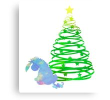 Christmas Donkey Inspired Silhouette Canvas Print