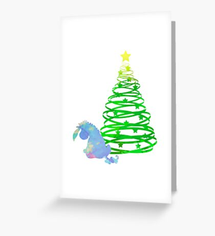 Christmas Donkey Inspired Silhouette Greeting Card