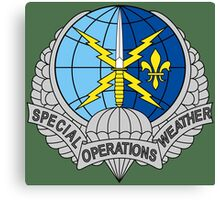 United States Air Force Special Operations Weather Team Canvas Print