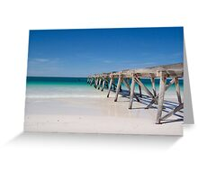 Old wooden pier Greeting Card