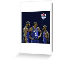 Usa Basketball Team Greeting Card