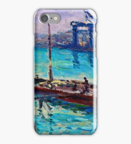 Maximilien Luce - Peniche Near The Bank Of The Seine 1910  iPhone Case/Skin