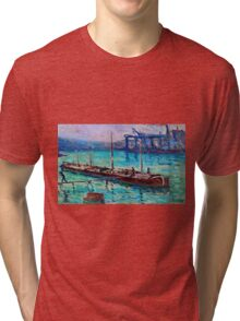 Maximilien Luce - Peniche Near The Bank Of The Seine 1910  Tri-blend T-Shirt