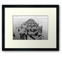 Old pier, Leith Docks Framed Print