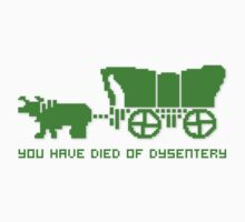 THE OREGON TRAIL - DIED OF DYSENTERY (1) Baby Tee