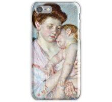 Mary Cassatt - Sleepy Baby ( 1910)  iPhone Case/Skin