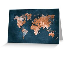 world map 15 Greeting Card