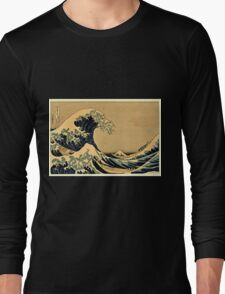 Katsushika Hokusai - The Great Wave Off the Coast of Kanagawa 19th century Long Sleeve T-Shirt