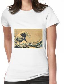 Katsushika Hokusai - The Great Wave Off the Coast of Kanagawa 19th century Womens Fitted T-Shirt