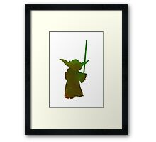 Jedi Inspired Silhouette Framed Print