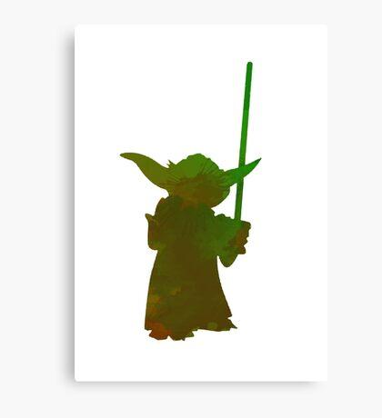 Jedi Inspired Silhouette Canvas Print