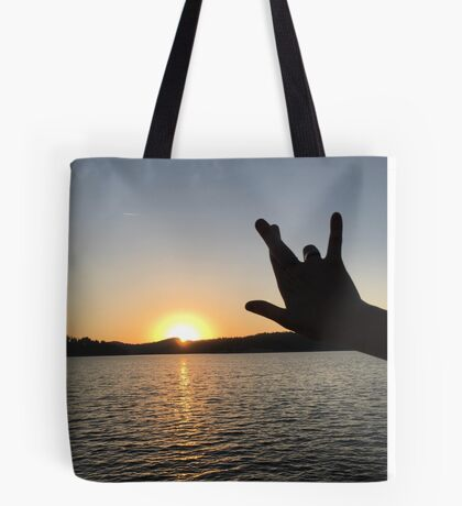 I Really Love You Sunset Tote Bag
