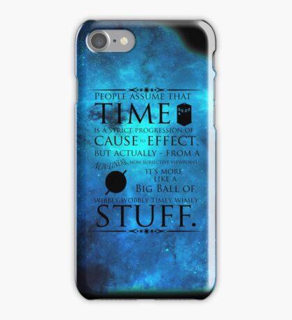 Wibbly Wobbly Timey Wimey iPhone Case/Skin