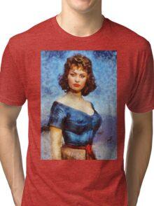 Sophia Loren Hollywood Actress Tri-blend T-Shirt