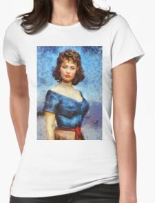 Sophia Loren Hollywood Actress Womens Fitted T-Shirt