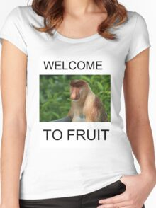 WELCOME TO FRUIT Women's Fitted Scoop T-Shirt