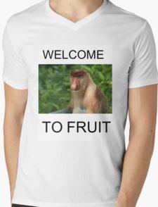 WELCOME TO FRUIT Mens V-Neck T-Shirt
