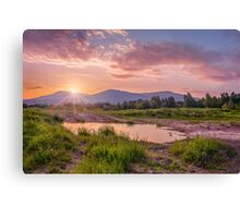 Sunrise over the Little Beskids Canvas Print
