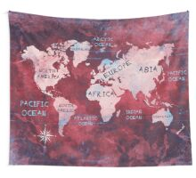 world map 16 Wall Tapestry