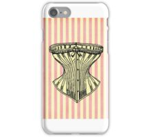 Pink and White Corset Note Card iPhone Case/Skin