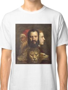 Tiziano Vecellio, Titian - An Allegory of Prudence (about 1550 65)  Classic T-Shirt