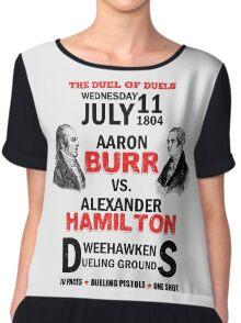 Burr Vs Hamilton Chiffon Top