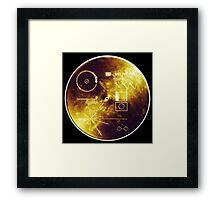 VOYAGER, Golden Record, Spacecraft, Message to Aliens Framed Print