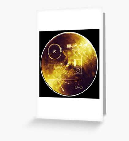 VOYAGER, Golden Record, Spacecraft, Message to Aliens Greeting Card
