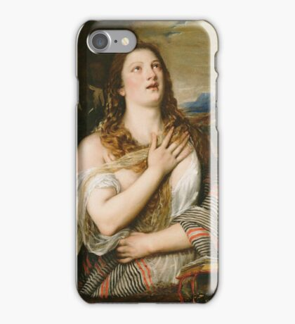 Titian - The Penitent Magdalene iPhone Case/Skin