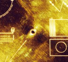 VOYAGER, Golden Record, Spacecraft, Message to Aliens Sticker