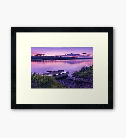 Blue hour on the Vistula river Framed Print