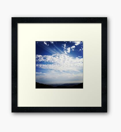 Dragon clouds Framed Print