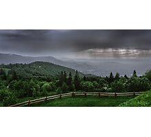 Rain over the Silesian Beskids Photographic Print