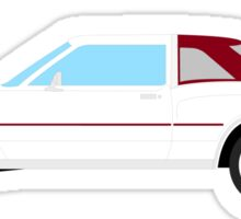 1977-1978 Dodge Diplomat - maroon & white Sticker