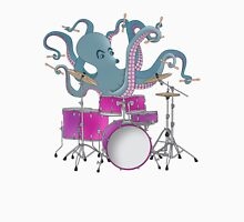 Octopus Playing Drums - Blue Mens V-Neck T-Shirt