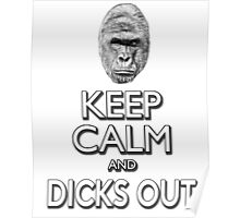 Keep Calm And Dicks Out Poster