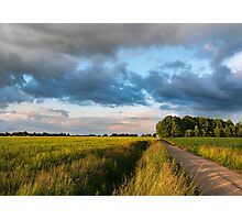 Backroad between the fields Photographic Print