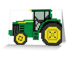 Tractor - The Kids' Picture Show - 8-Bit Greeting Card