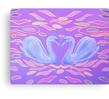 Blue Swans Canvas Print