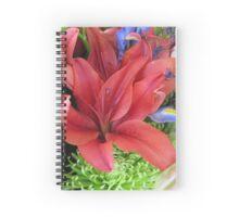 Red Lilies Spiral Notebook