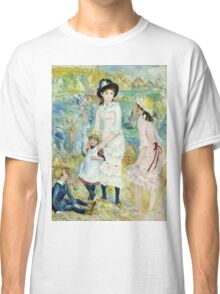 Renoir Auguste - Children on the Seashore, Guernsey (about 1883)  Classic T-Shirt
