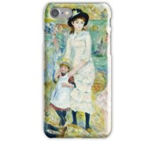 Renoir Auguste - Children on the Seashore, Guernsey (about 1883)  iPhone Case/Skin